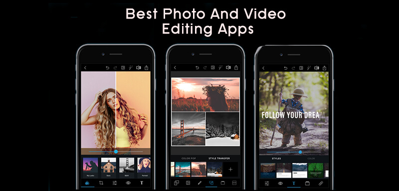 Photo and video editing apps