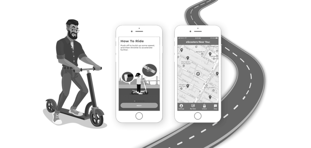 electric scooter app development like lime