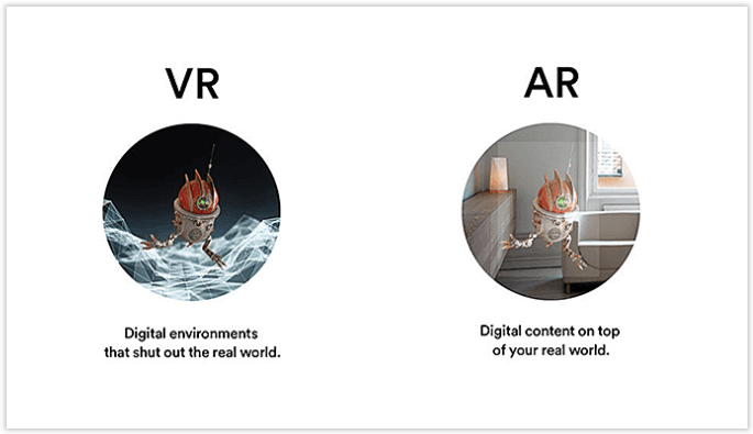 AR VR - technologies for mobile app development