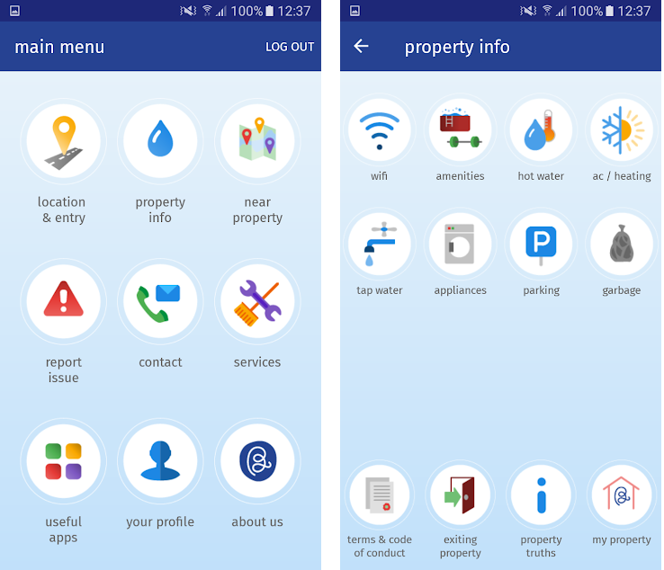 Features of Blueground app which you can include in your apartment rental app