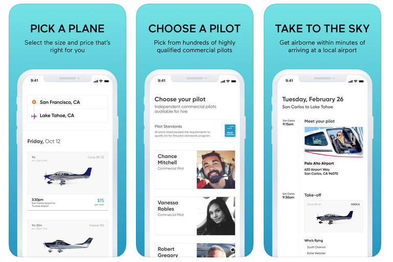 Blackbird-Flight-sharing app