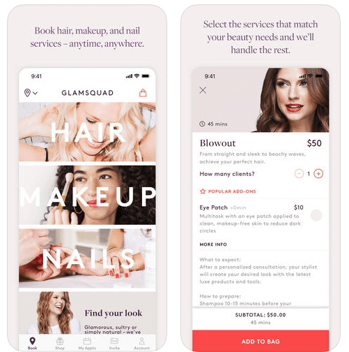 Uber for Beauty- GlamSquad-App
