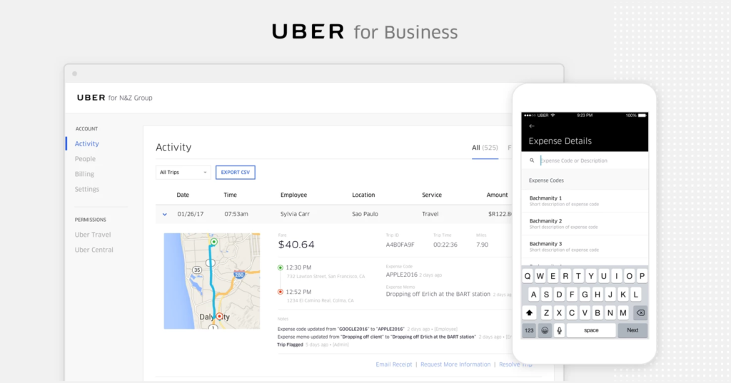 Uber for business App Development