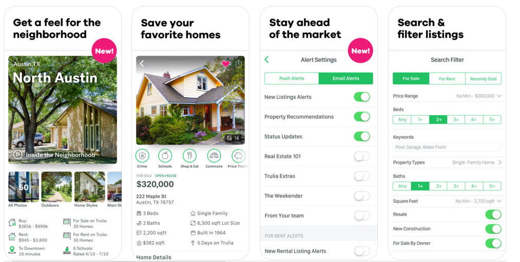 trulia app features