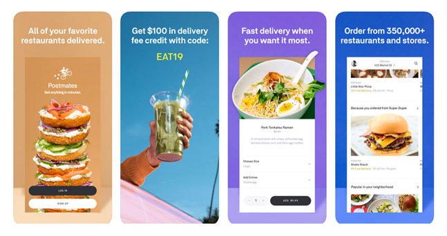 Scope of on-demand delivery apps like Postmates