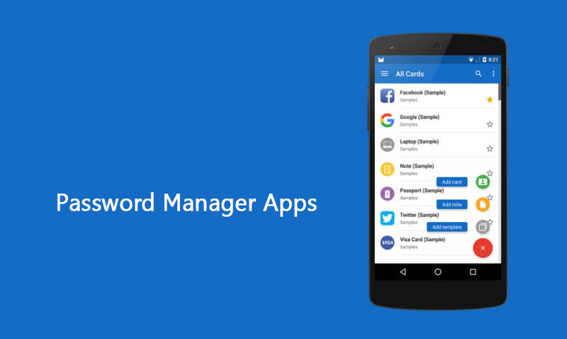 Develop a password manager app to keep passwords safe