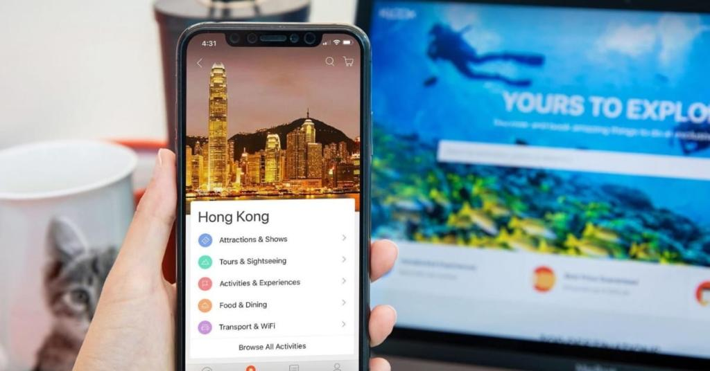 develop travel booking app like klook