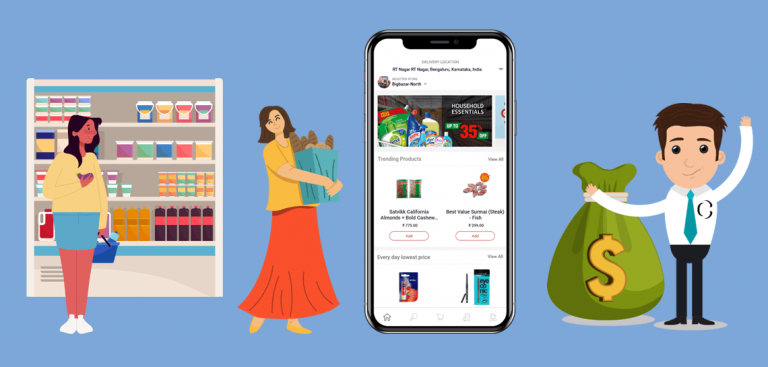 what is the cost of development an on-demand grocery app