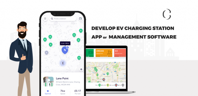 Develop EV charging station app or EV charging station management software and brace yourself to hit the very gainful future market as a very early player