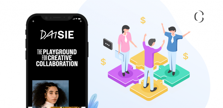 Develop a social media app like Daisie for creators to earn millions while letting creators collab with other creators.