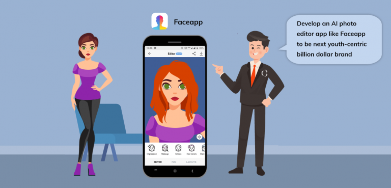 Develop an AI photo editor app like Faceapp to make your selfies look more attractive and interesting