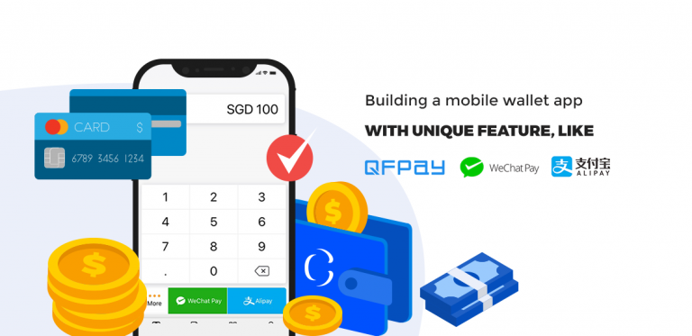Build a mobile wallet app like WeChat Pay, Alipay or QFPay to provide your customers with new digital payment solutions