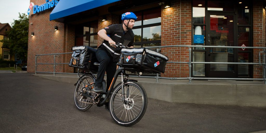 E-scooter trend takes the next step with Domino's getting e-bikes for pizza delivery
