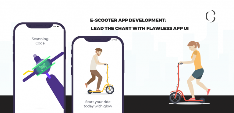 E-scooter app development Lead the chart with flawless app UI
