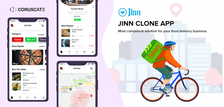 jinn app clone - food delivery app