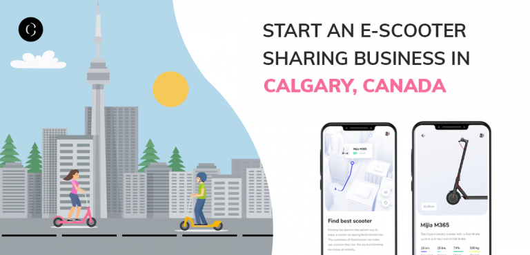 start an e-scooter sharing business in calgary